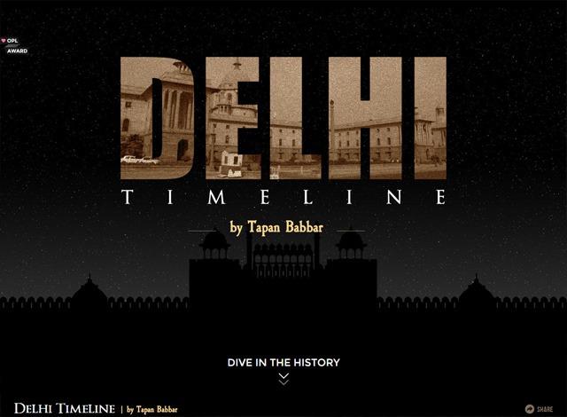 One-page website: Delhi Timeline
