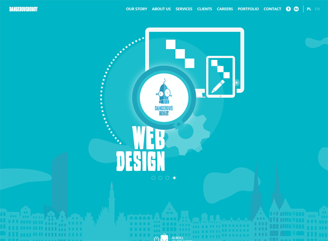 One-page website: DangerousRobot