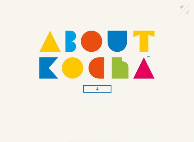 One-page website: Kocha