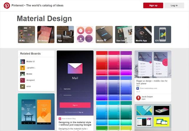 Pinterest: Material Design