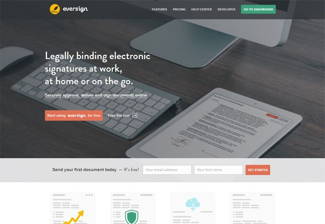 eversign home page