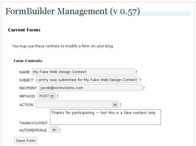 FormBuilder Set-up