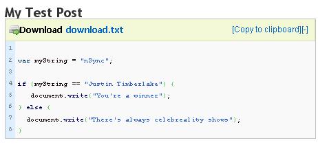 WP-CodeBox Screenshot