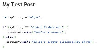 WP-Syntax Screenshot