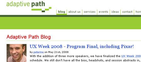 adaptive path blog - Screen shot