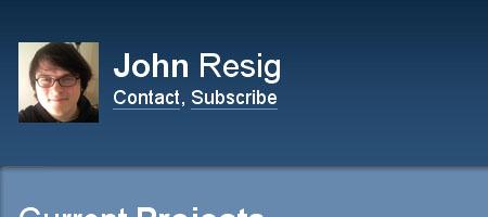 John Resig - Screen shot