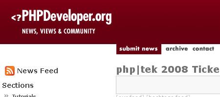 PHPDeveloper - Screenshot