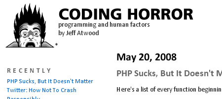 Coding Horror - Screenshot