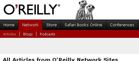 O'Reilly Network - Screen shot