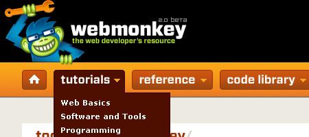 Web Monkey - Screen shot