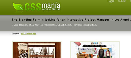 CSS Mania - Screenshot