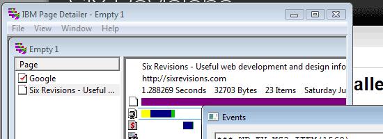 IBM Page Detailer - Screen shot
