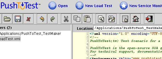 PushToTest TestMaker - Screen shot