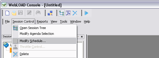WebLOAD - Screen shot