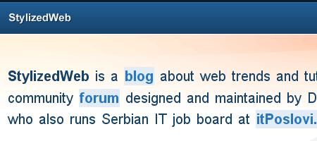 Stylized Web - Screen shot