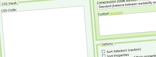 Clean CSS - screen shot.