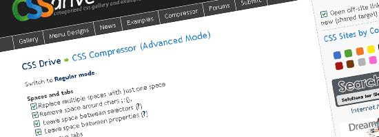 CSS Drive Gallery- CSS Compressor - screen shot.