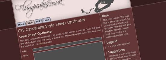 flumpCakes Style Sheet Optimizer - screen shot.