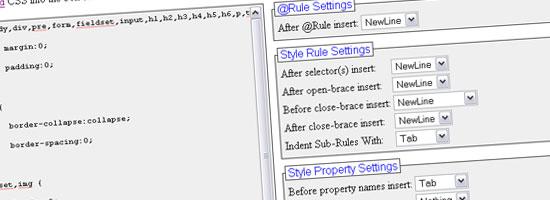 FormatCSS - screen shot.
