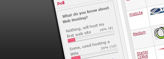 Polling feature on WebHostNinja