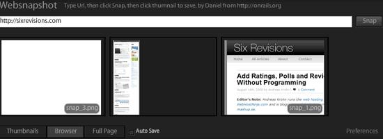 WebSnapshot - screen shot.