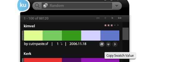 kuler desktop - screen shot.