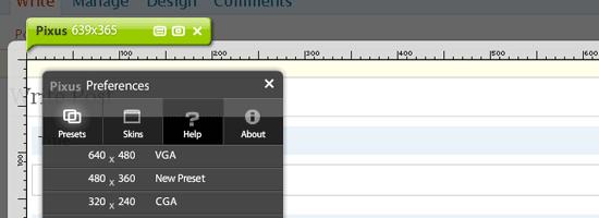 pixus - screen shot.