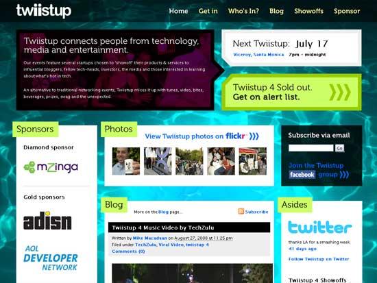 Twiistup - screen shot.
