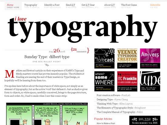 I Love Typography - screen shot.