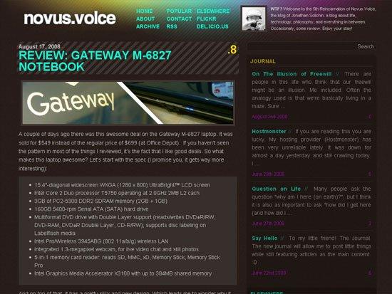 novus.volce - screen shot.