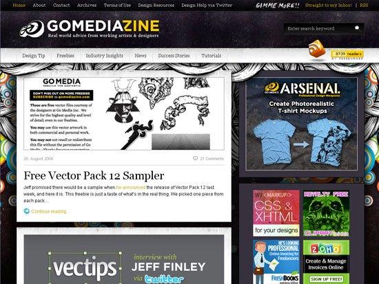GoMediaZine - screen shot.