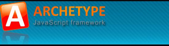 Archetype JavaScript Framework - screen shot.