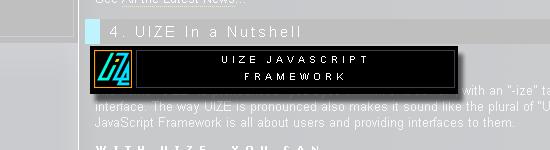 UIZE - screen shot.
