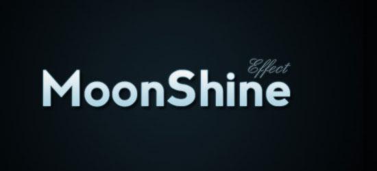 Moon Shine Text Effect - screen shot.