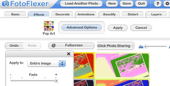 FotoFlexer - screen shot.