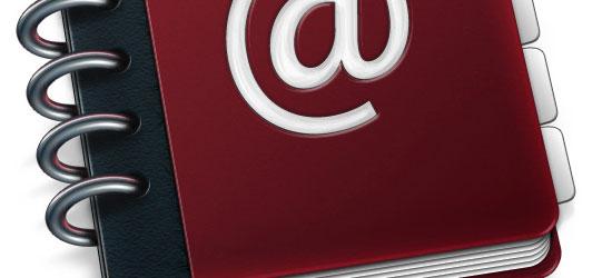 Custom Mac OSX Style Ring Binder Address Book - screen shot.