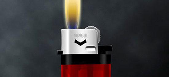 Create a Brilliant Vector Lighter - screen shot.