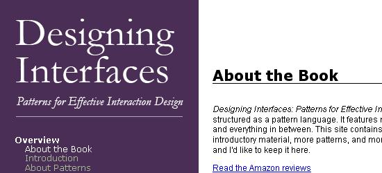 Designing Interfaces - screen shot.