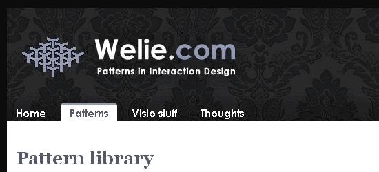 Welie.com - screen shot.