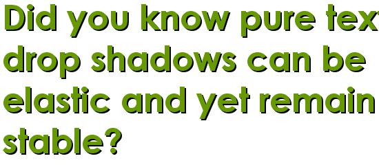 CSS Text Shadows screen shot.