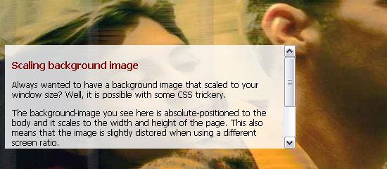Scaled Background Image screen shot.