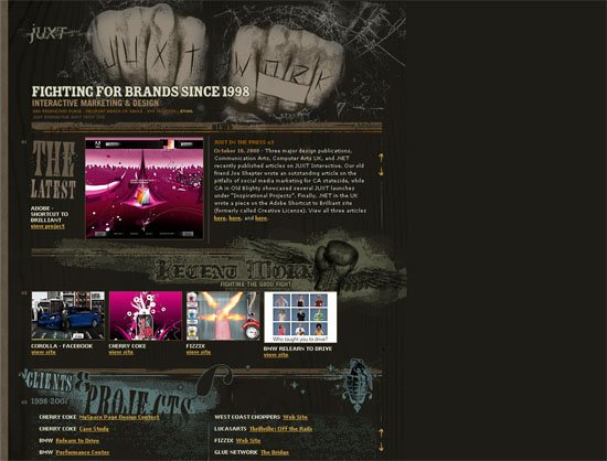 JUXT Interactive - screen shot.