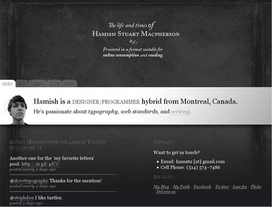 Hamish Macpherson - screen shot.