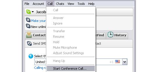 Skype - screen shot.