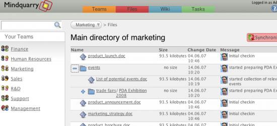 Mindquarry DO -screen shot.