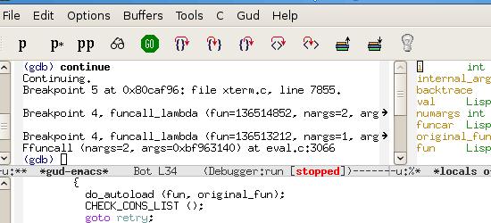 GNU Emacs - screen shot.