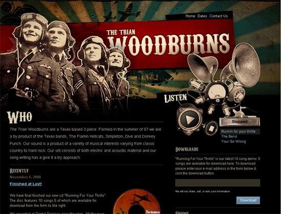 The Trian Woodburns - screen shot.