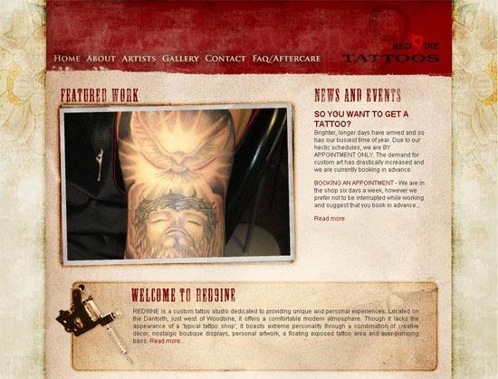 Red9ine Tattoos - screen shot.