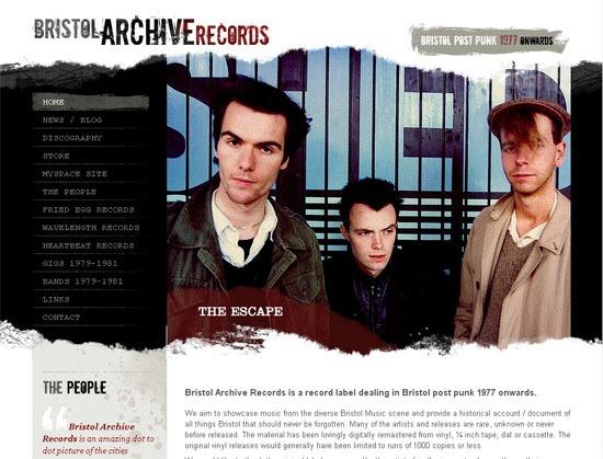 Bristol Archive Records - screen shot.