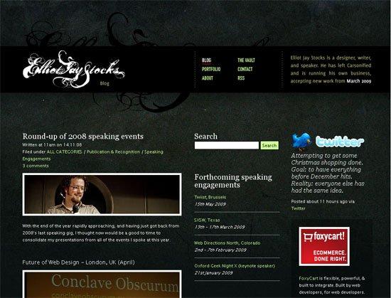 Elliot Jay Stocks - screen shot.